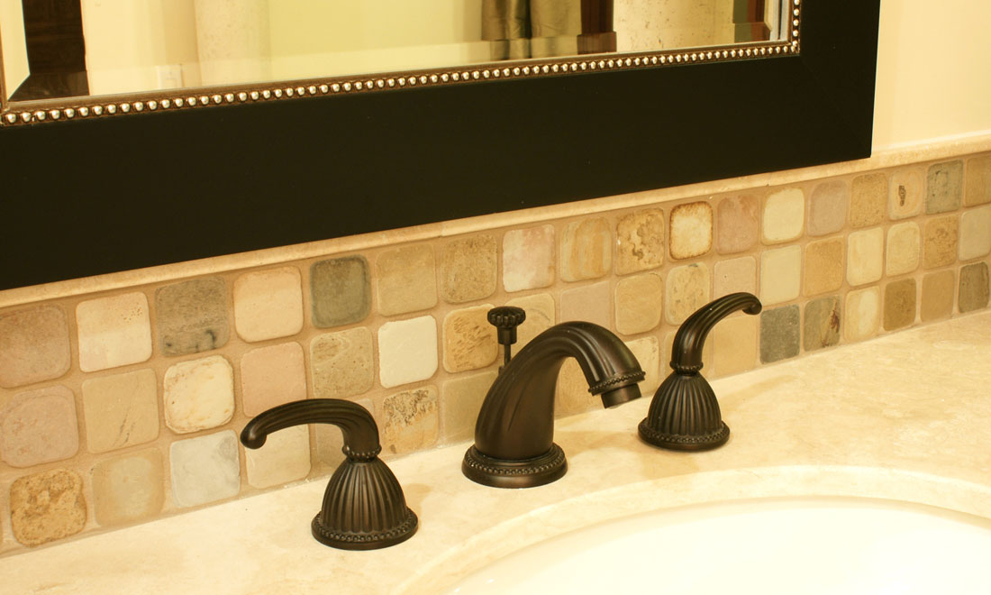 Slate Bathroom Backsplash