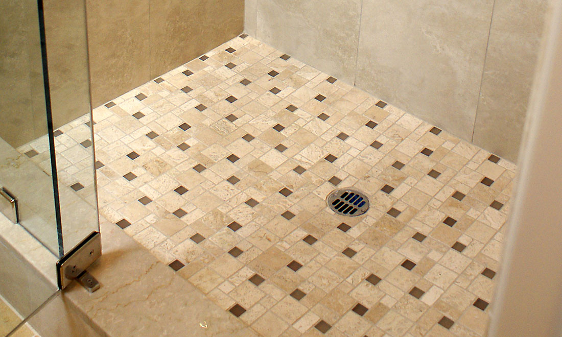 stone shower pans
