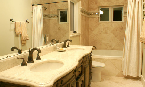 Marble Vanity and Bathroom